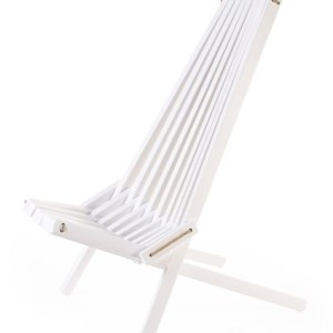 white birch wooden garden chair